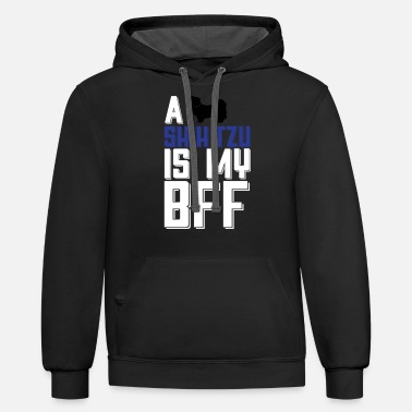 Dogsofinstaworld A Shih Tzu Is My Bff - Unisex Two-Tone Hoodie
