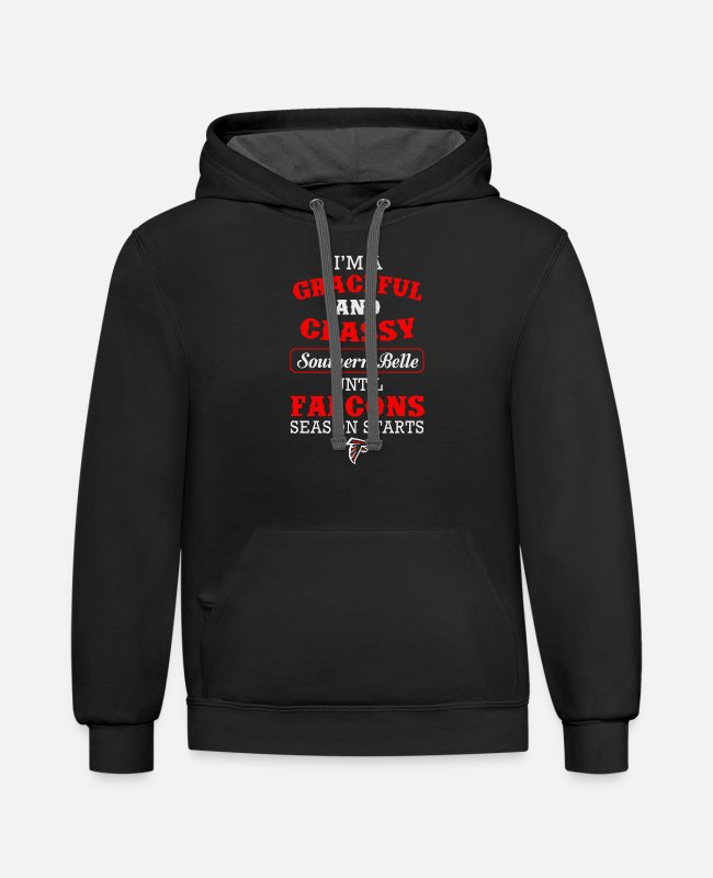Nature Hoodies & Sweatshirts - New Design I m A Graceful And Classy Southern - Unisex Two-Tone Hoodie black/asphalt