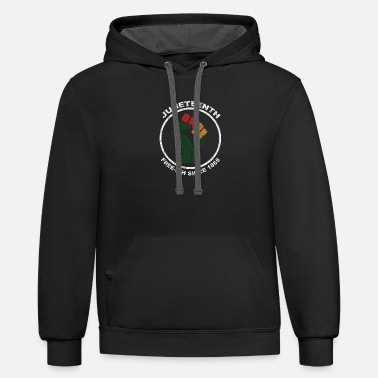 Juneteenth Free-Ish Since 1865 Fist - Unisex Two-Tone Hoodie
