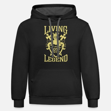 Latest Living Legend since 1972 - Unisex Two-Tone Hoodie