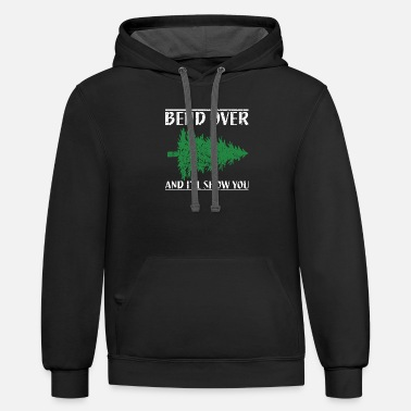 Over Bend Over And I ll Show You Funny Christmas - Unisex Two-Tone Hoodie