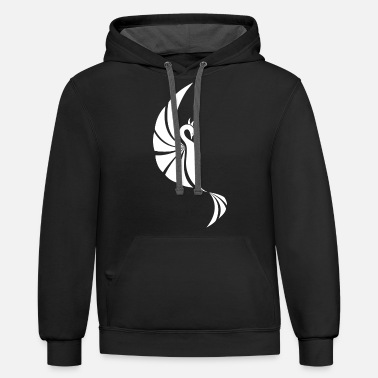 Legendary Phoenix Fire Bird Creature Tribal Tattoo - Unisex Two-Tone Hoodie