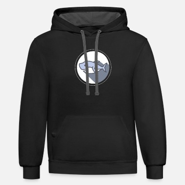 HAPPY SHARK Smiling Sea Creature Animal - Unisex Two-Tone Hoodie