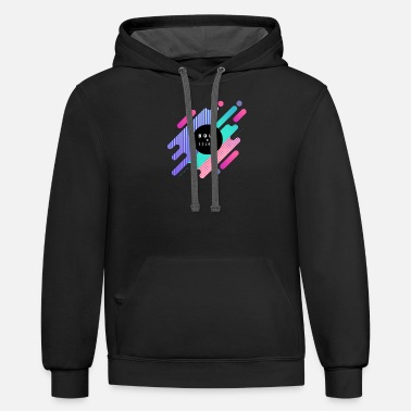 Bold Bold in colors - Unisex Two-Tone Hoodie