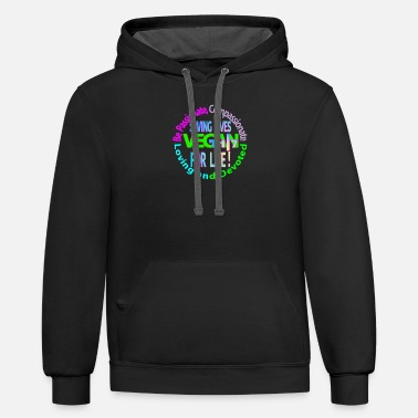 Passion BE passionate compassionate loving and devoted - Unisex Two-Tone Hoodie