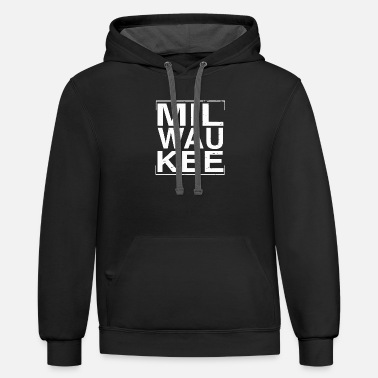 Wisconsin Funny Wisconsin - Cool Distressed Milwaukee Wisconsin - Unisex Two-Tone Hoodie