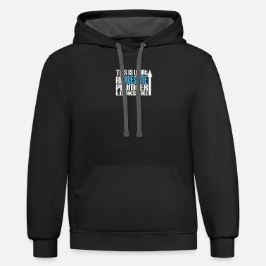 Plumber Logo This Is What An Awesome Plumber Looks Like - Unisex Two-Tone Hoodie