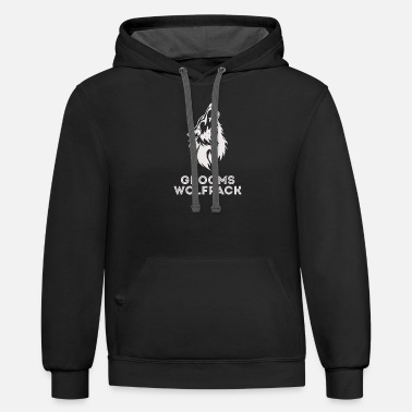 Bachelor New Design Grooms wolfpack bachelor party - Unisex Two-Tone Hoodie
