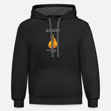 Funny Birthday Demon Fire Duck Humorous and Moody Gift - Unisex Two-Tone Hoodie