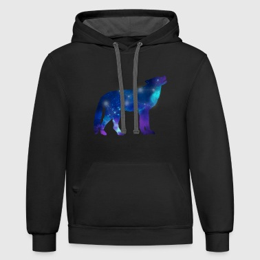 Wolf Lupus Constellation Astrology - Contrast Hoodie