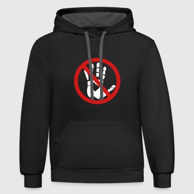 Handprint - Do not touch! - Contrast Hoodie