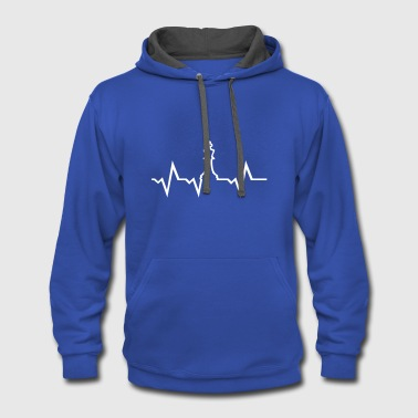 Chess Chess Heartbeat - Contrast Hoodie