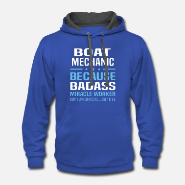 Boat Boat Mechanic T Shirt - Contrast Hoodie