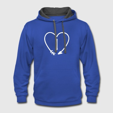 Custom Name Initial T-shirts (Letter I) - Contrast Hoodie