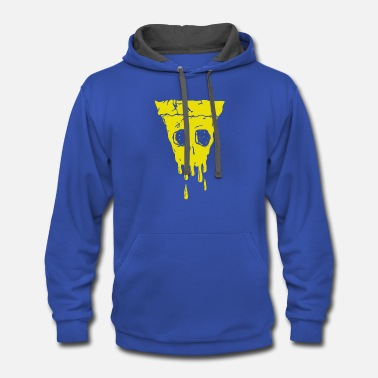 Cheesy Cheesy Death - Contrast Hoodie