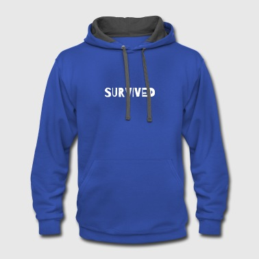 SURVIVED - Contrast Hoodie