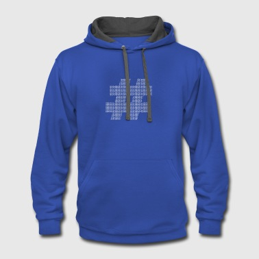 Hashtag Hashtag - Contrast Hoodie