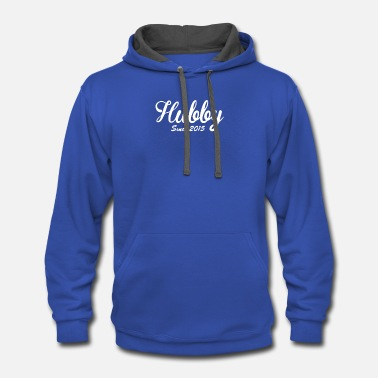 Hubby Hubby Since 2015 Funny - Contrast Hoodie