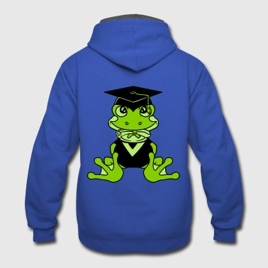 college graduation high school graduation school s - Contrast Hoodie