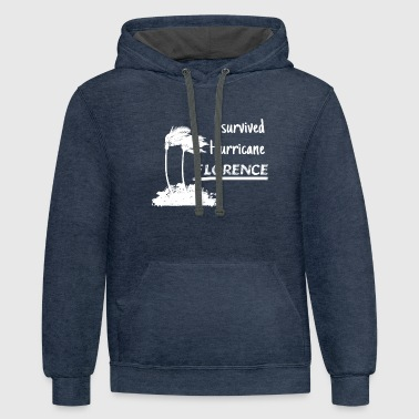 Florence I Survived Hurricane FLORENCE - Contrast Hoodie