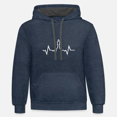 Chess Chess Heartbeat - Unisex Two-Tone Hoodie