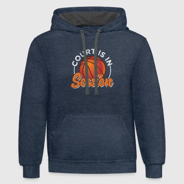 Lessons Court Is In Lesson - Contrast Hoodie