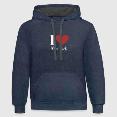 I Love New York I Love New York - Contrast Hoodie