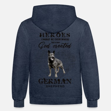 German German Shepherd Dog - Unisex Two-Tone Hoodie