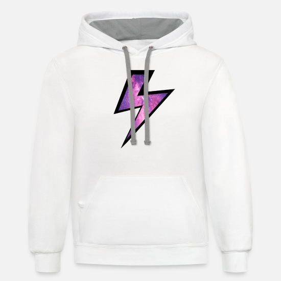 Lightning Hoodies & Sweatshirts - lightning - Unisex Two-Tone Hoodie white/gray