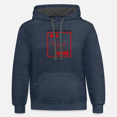 Blood Donor BE A BLOOD DONOR - Unisex Two-Tone Hoodie