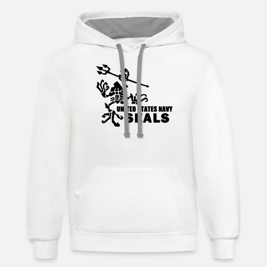 Navy Seal Frog Crawling With Fork kyle Unisex Two-Tone Hoodie