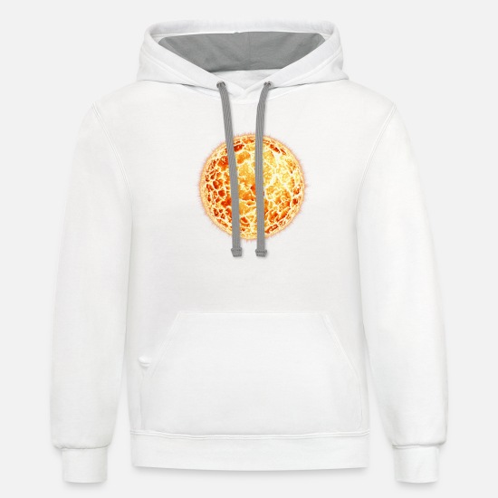 Beach Hoodies & Sweatshirts - Sun - Unisex Two-Tone Hoodie white/gray