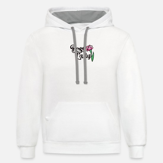 Boss Hoodies & Sweatshirts - Boss Lady - Unisex Two-Tone Hoodie white/gray