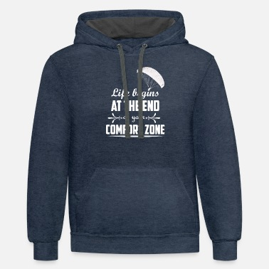 End Cool Paragliding Motivational T Shirt Gift - Unisex Two-Tone Hoodie
