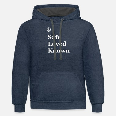 Safe Loved Known - Unisex Two-Tone Hoodie