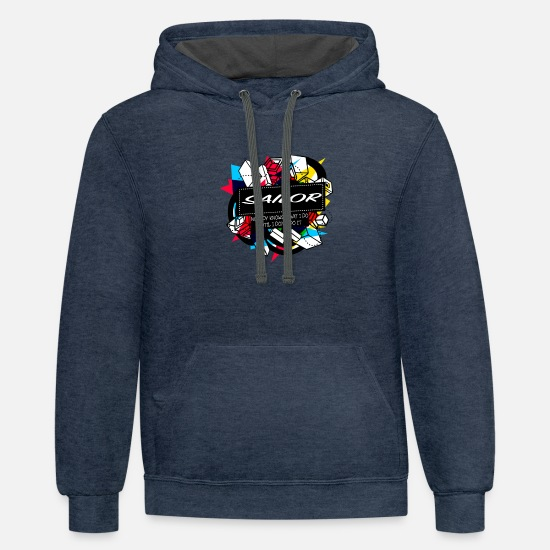 New Hoodies & Sweatshirts - Best design for SAILOR - Unisex Two-Tone Hoodie indigo heather/asphalt