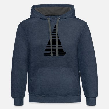 Sailing Boat Sailing Boat Sail Boat - Unisex Two-Tone Hoodie