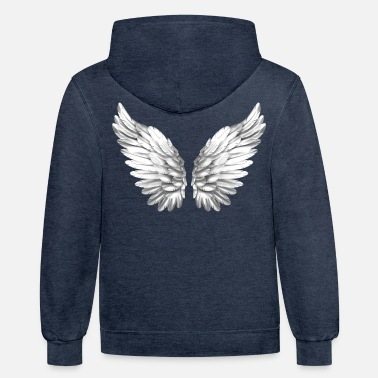 Angel Angel Wings White Silver Angelwings - Unisex Two-Tone Hoodie