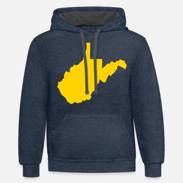 West State of West Virginia solid - Unisex Two-Tone Hoodie