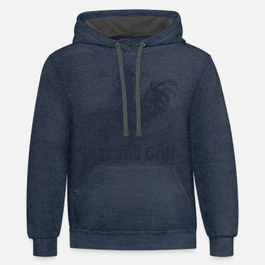 Grilling Grill Grill Grill - Unisex Two-Tone Hoodie
