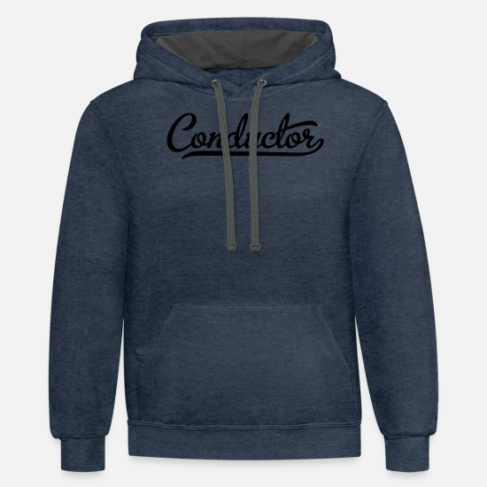 Conductor Hoodies & Sweatshirts - conductor - Unisex Two-Tone Hoodie indigo heather/asphalt