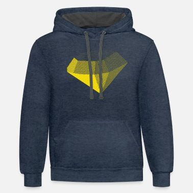Yellow Diamond - Unisex Two-Tone Hoodie