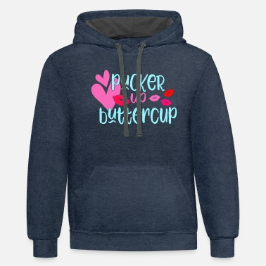 Pucker Up Buttercup - Unisex Two-Tone Hoodie