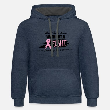 Breast Cancer Month BREAST CANCER - Unisex Two-Tone Hoodie