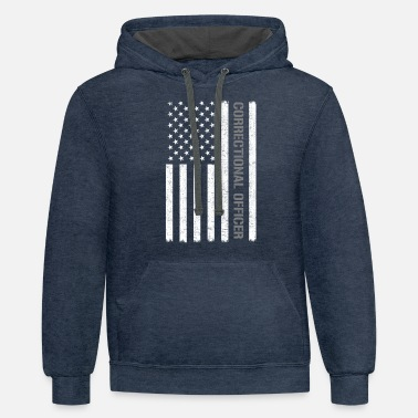 Officer Correctional officer American Flag correctional of - Unisex Two-Tone Hoodie