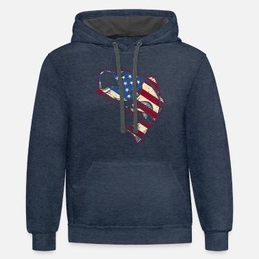 Bass Fishing For Bass Fisherman Gift Usa Flag Alkatheri - Unisex Two-Tone Hoodie