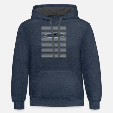 Look Through Cat looks through blinds - Unisex Two-Tone Hoodie