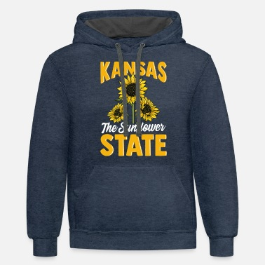 Kansas Kansas the Sunflower State - Unisex Two-Tone Hoodie