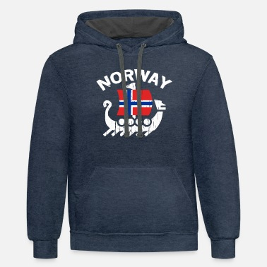 Norway Norway Viking design for Men & Women - Unisex Two-Tone Hoodie