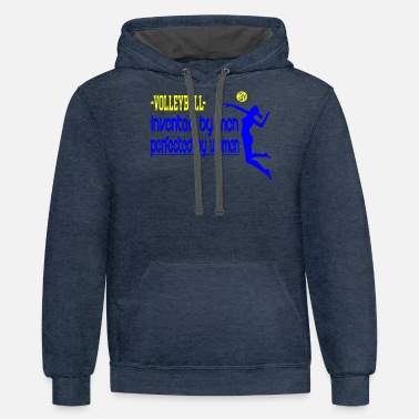 Volleyball volleyball men and women - Unisex Two-Tone Hoodie